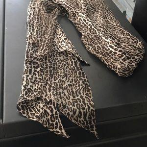 Ann Taylor Leopard Scarf
